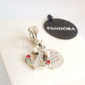 Pandora Anchor of Love Dangle Charm Silver 925 Ale